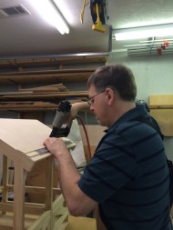 """A brad nailer is used wit 5/8"""" brads nailed into the joists of the stable."""