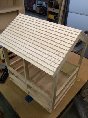 Complete roof with the top ridge installed.
