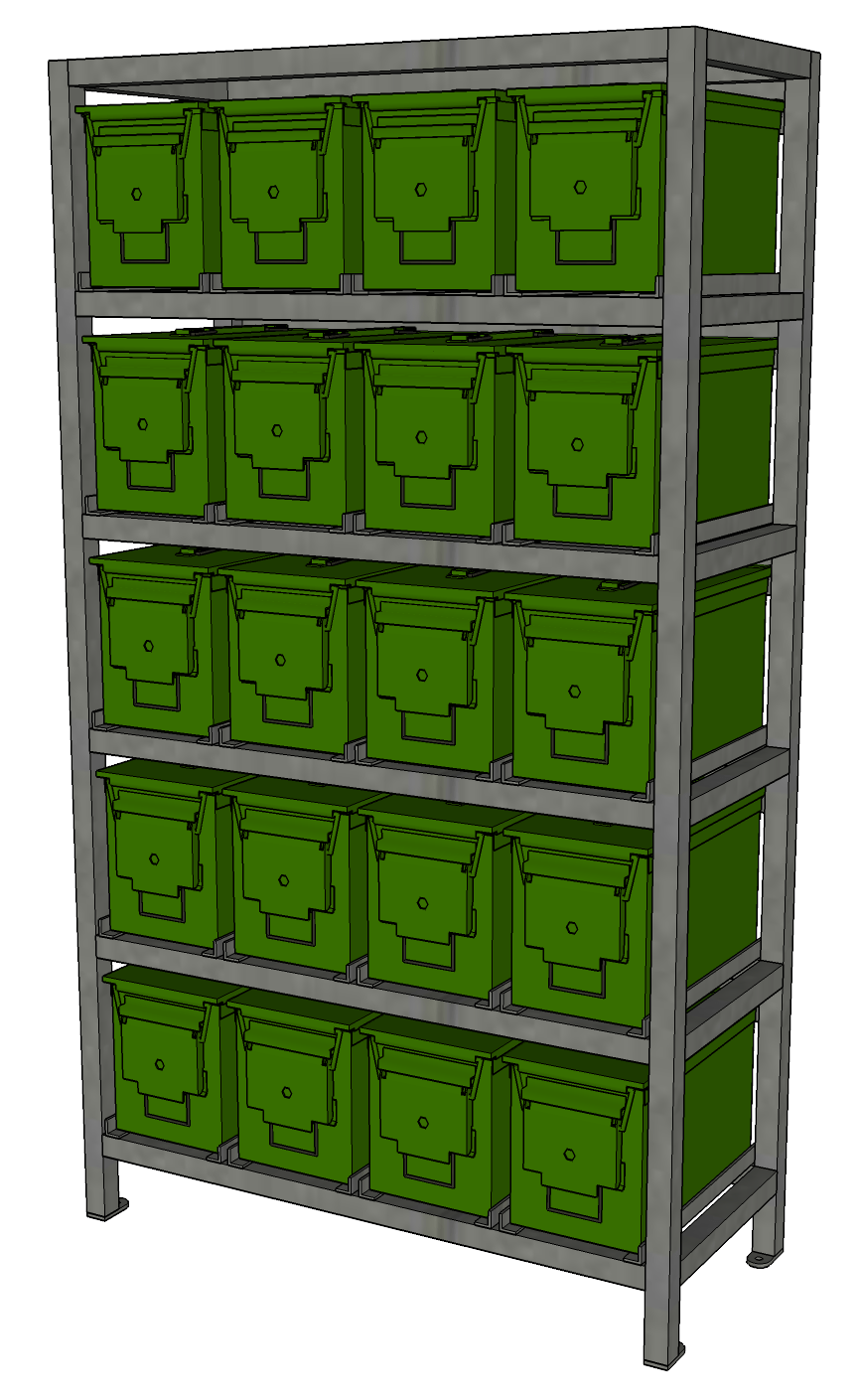 Ammo Can Storage Rack