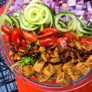 Vegan Cobb Salad with Homemade Avocado Ranch