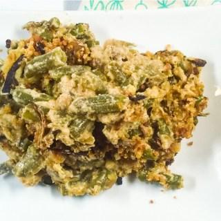 Smoky Vegan Green Bean Casserole