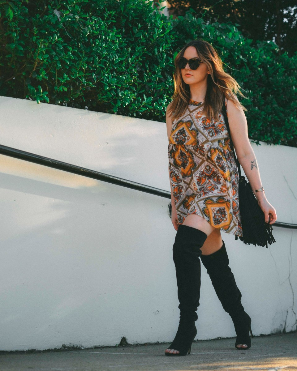Printed Dress Boots