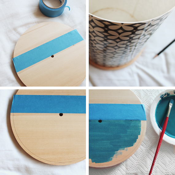 color-block-clock diy