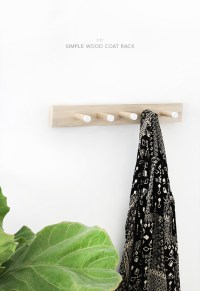 diy simple wood coat rack - almost makes perfect