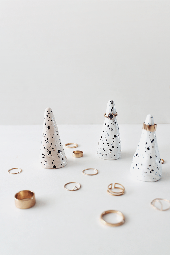 DIY faux ceramic ring cones | almost makes perfect