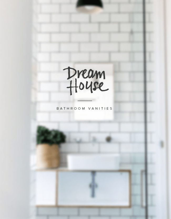 dream house | bathroom vanity | almost makes perfect