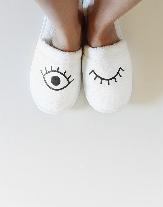 diy eye slippers | almost makes perfect