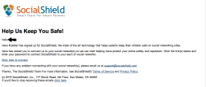 socialshield email to child 300x127 - Helping Kids Stay Safe Online. Is SocialShield the Answer?