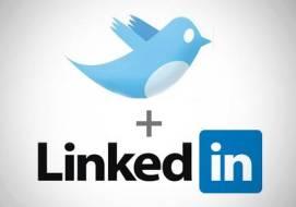 twitter linkedin logos