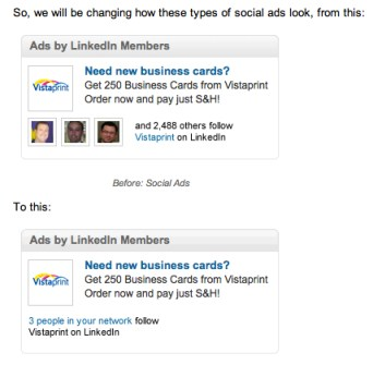 LinkedIn new social ads