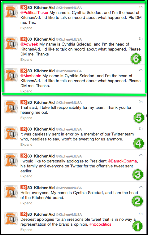 kitchenaid tweet obama almostsavvy - Your Brand Screwed-Up On Social Media, Now What?
