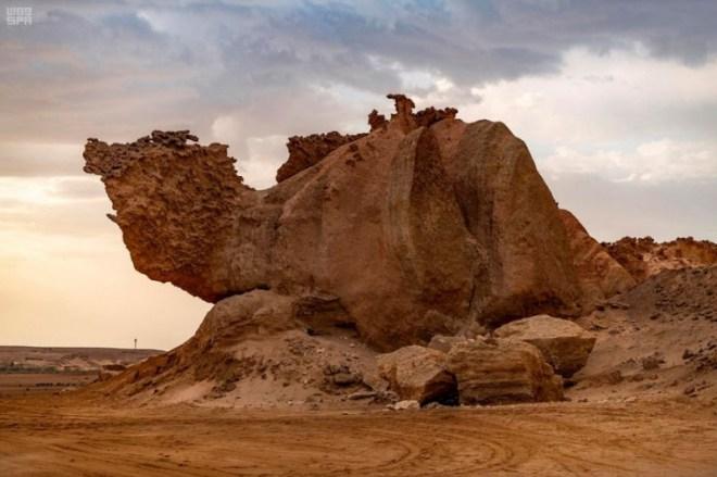 صخرة الجمل إحدى معالم الوجه السياحية