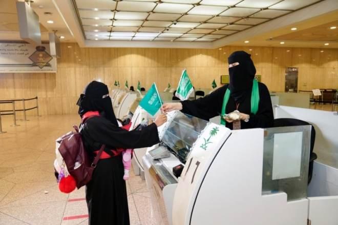 صور.. شعار الوطن يزين مطارات المملكة في اليوم الوطني 90