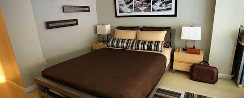 افكار غرف نوم للمساحات الصغيرة المرسال