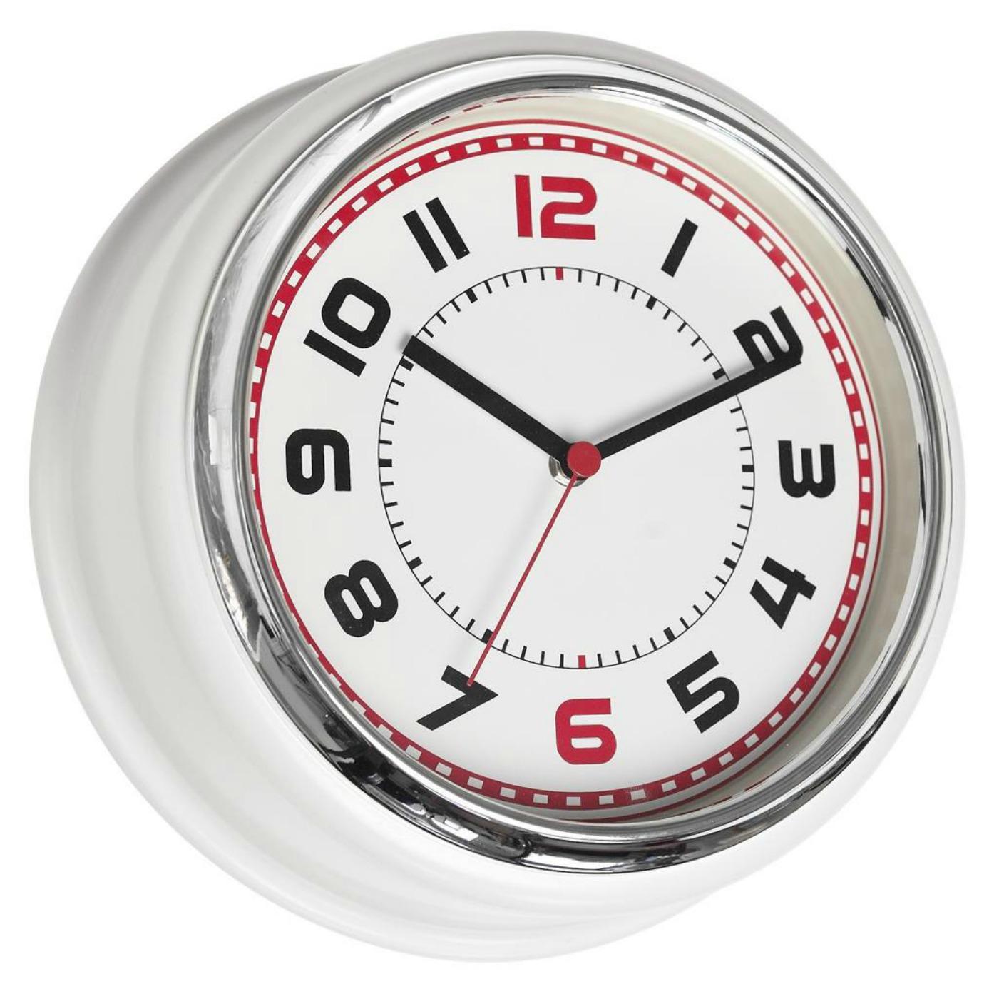 retro kitchen wall clock faucets stainless steel ستايلات ساعات للمطبخ مميزة ورائعة المرسال