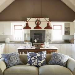 Small Open Plan Kitchen Diner Living Room Decorating Country Style صالة فاخرة بكنب سادو ومنقوش | المرسال