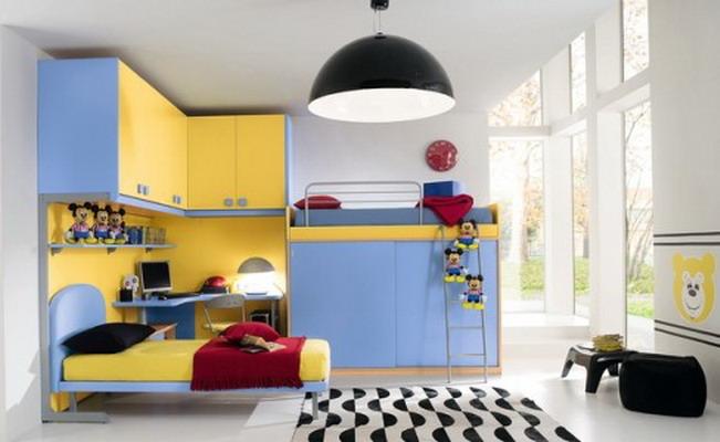 غرفة أطفال أصفر في لبني المرسال