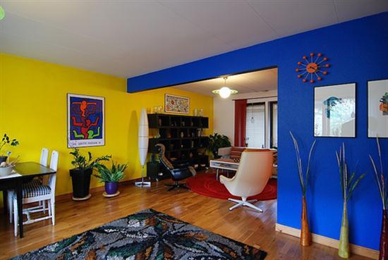 اصفر وازرق لدهانات المنازل الحديثة المرسال