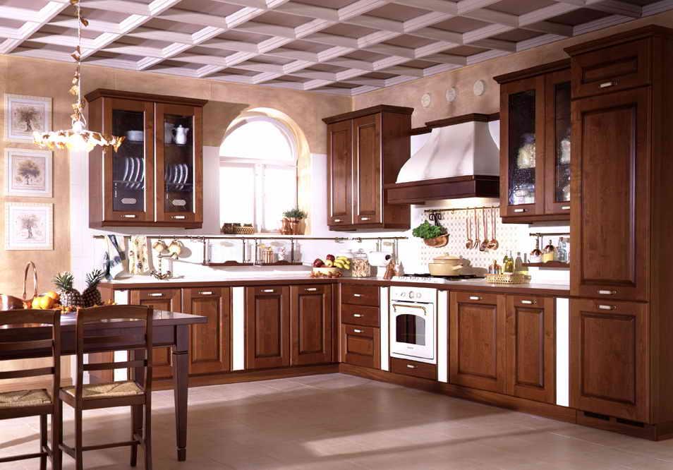 solid wood kitchen chairs world market campaign chair دواليب خشبية للمطبخ الحديث | المرسال