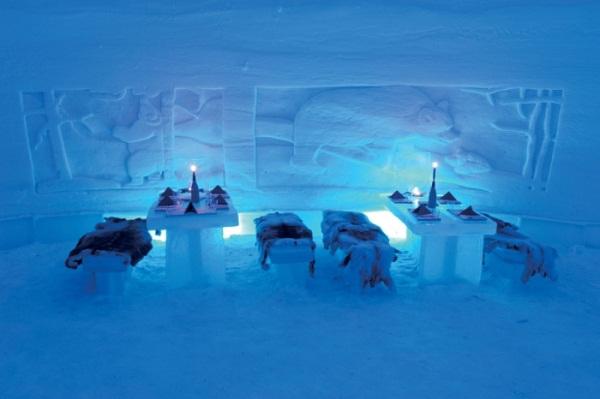 مطعم قرية الثلج ليانوا ، فنلندا