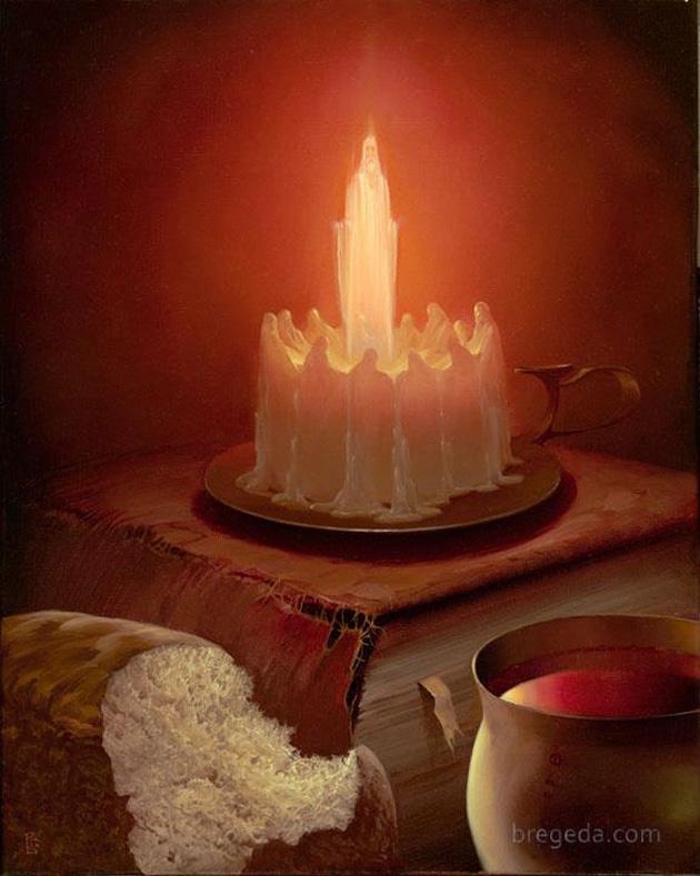 Happy Birthday Surreal Painting
