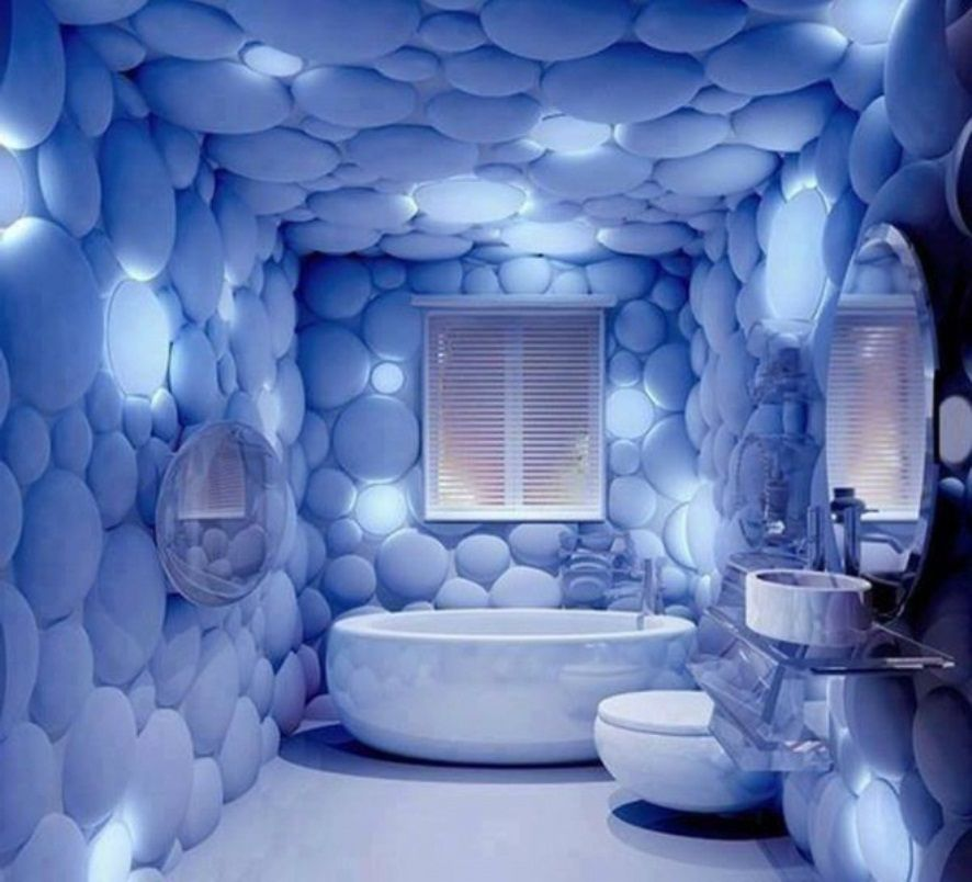 ديكور ورق الحائط في حمامات 2016 المرسال