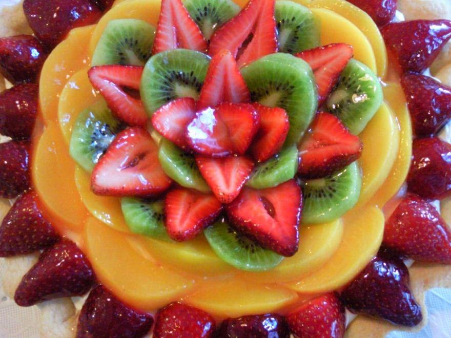 تورتة الفواكه بطريقة الشيف حسن المرسال