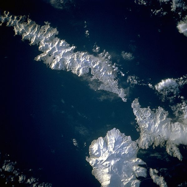 Aleutians from space