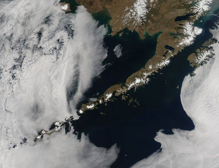 The Aleutian Islands would