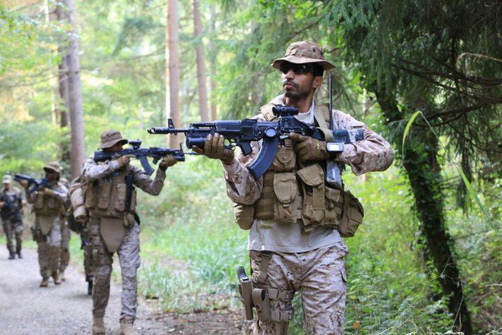القوات السعودية الخاصة في التدريب المشترك مع فرنسا