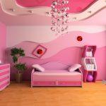 غرفة نوم بنات للاطفال بلون الوردي البناتي  - مجلة ست الحسن