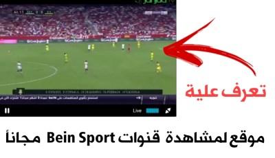 تعرف على هذا الموقع لمشاهدة قنوات Bien Sport  مجاناً بجودة عالية وسرعة خيالية