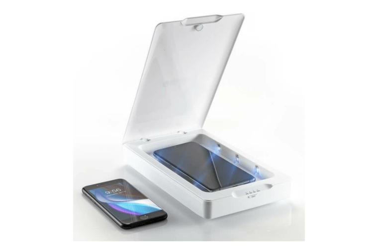 جهاز lnvisibleShied UV Sanitizer لتعقيم الهاتف من البكتريا