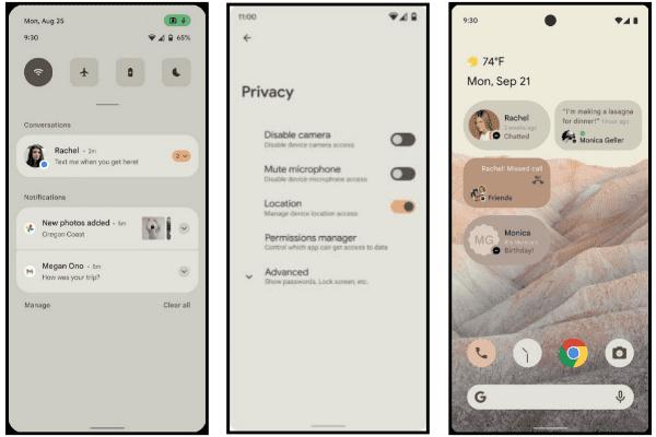 تسريب صور Android 12