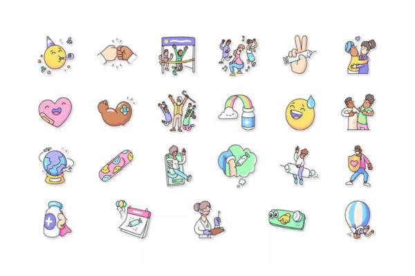 ملصقات اللقاحات للجميع