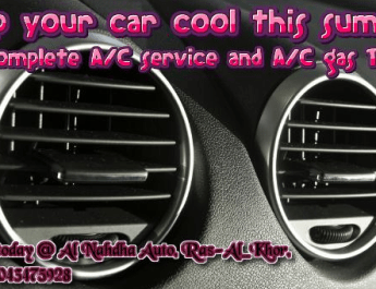 Auto A/C gas check, repairs, service and refills
