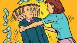 كيفية التعامل مع الزوجة المادية