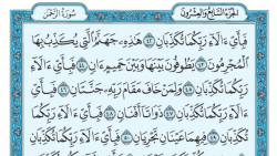 تفسير سورة الرحمن في المنام