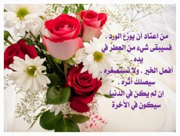 عبارات جميلة كلام جميل عن الورد