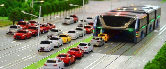 حافلة طائرة - سيارة - سيارات - موقف