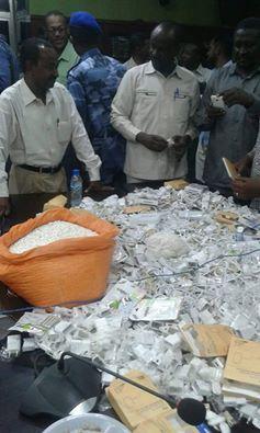 صورة توضح المخدرات التي حاول تهريبها نجل برلماني سوداني الى داخل البلاد
