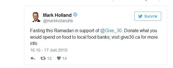 """""""أريد أن أحس بجوع الفقراء عبر العالم"""".. نائب برلماني كندي غير مسلم يقرّر صوم رمضان كله"""