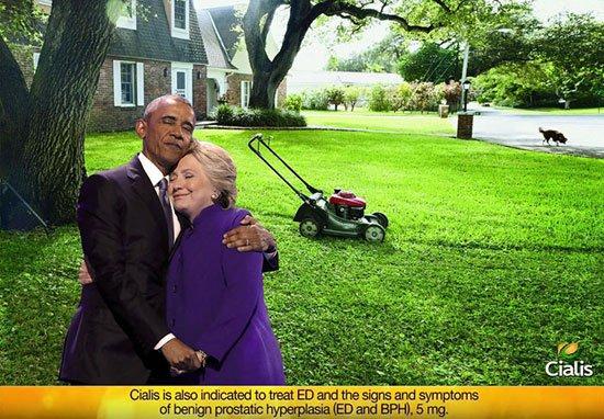 يف سخر نشطاء من أوباما وكلينتون3