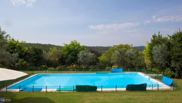 TAVERNELLE, ITALY - JULY 04: General view of the swimming pool at Queen Beatrix of The Netherlands summer residence on July 4, 2011 in Tavernelle, Italy. (Photo by Michel Porro/Getty Images)