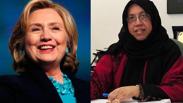 ماذا يجمع بين هيلاري كلينتون والإسلامية صالحة عابدين؟