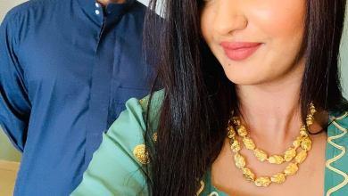 """Photo of شاهد .. الإعلامية تسابيح خاطر تكتسح السوشيال ميديا في العيد بصور """"عيدها"""" مع زوجها"""