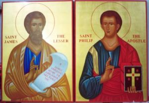 Icon depicting two men, the saints Philip and James