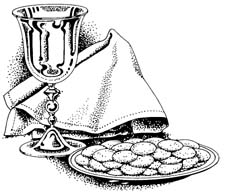 Graphic showing eucharistic elements