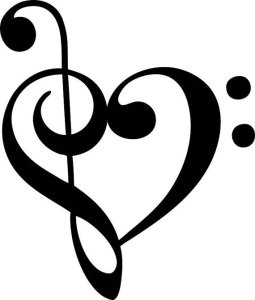 A heart made from musical notation