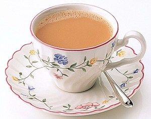 A photograph of a cup of tea